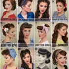 Vintage pin up hairstyles for long hair