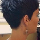 Back view of a pixie cut