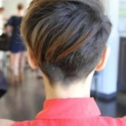 Backside of pixie haircut