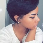 Black hair pixie cut