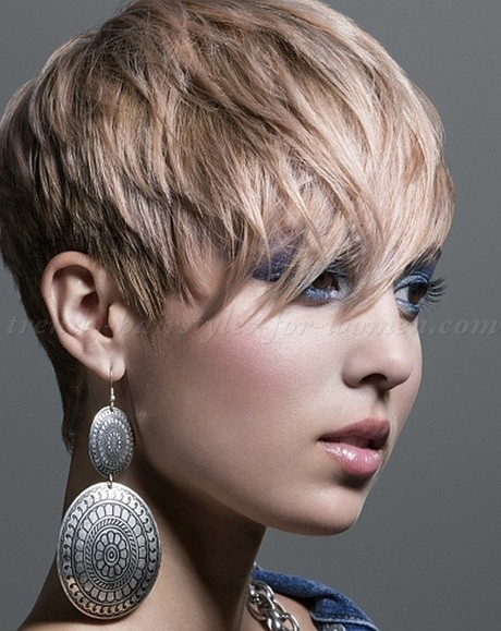 Cropped pixie hairstyles