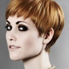 Fringed pixie haircut