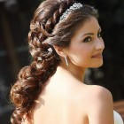 Hair style of wedding