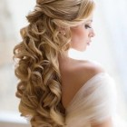 Hairstyles for long hair on wedding day
