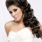 Long hair hairdos for weddings
