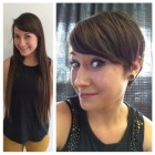 Long hair to pixie haircut