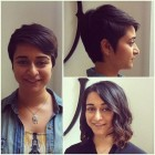 Pixie cut before and after