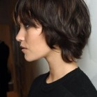 Pixie cut long hair