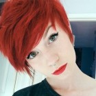 Pixie cut red hair