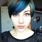Short pixie hair color