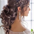 Curly hair up ideas