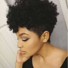Curly short hairstyles black hair