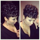 Cute short black hair