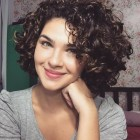 Cute short curly hair