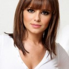 Medium length haircuts for thin hair with bangs