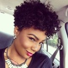 Short curly hairstyles for black ladies