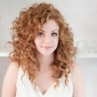 Stylish curly hair