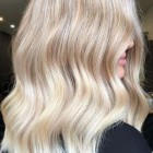 Creamy blonde hair