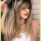 Cute long haircuts with bangs
