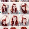 Easy retro hairstyles for long hair