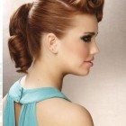 Easy retro updo