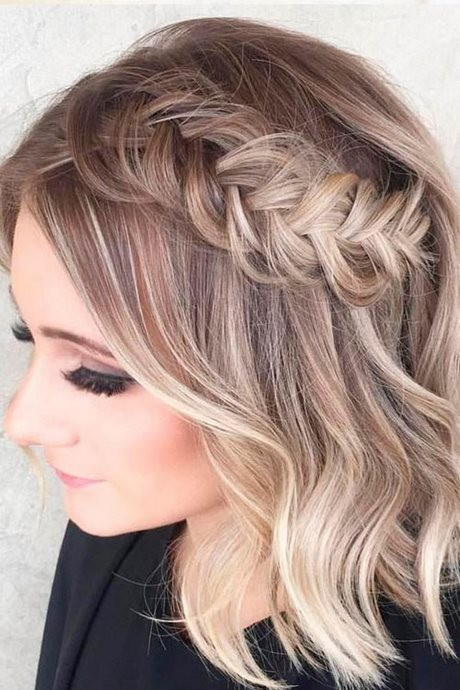 Elegant braids for short hair