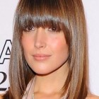 Haircut front bangs