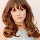Hairstyles for medium hair with bangs and layers