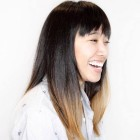 Layered cut with bangs