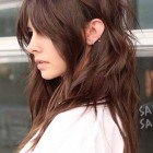 Long hair with layered sides