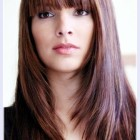 Long haircuts for women with bangs