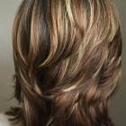 Medium length hair with short layers