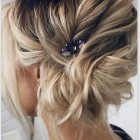 Messy updo hairstyles for short hair