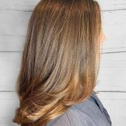Mid length hair with long layers