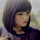 Short full hairstyles with bangs