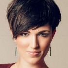 Short hair long bangs hairstyles