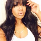 Weave with bangs