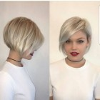 Short hairstyles with bangs 2018