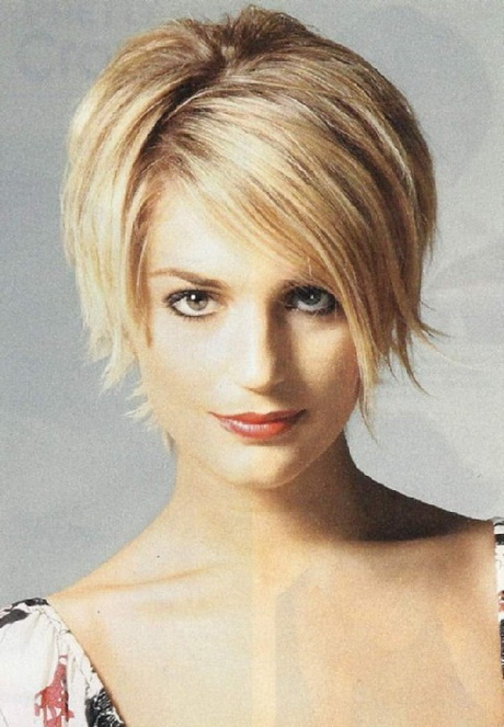 2015 Short Hairstyles For Round Faces