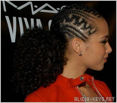 Alicia Keys Braid Hairstyles