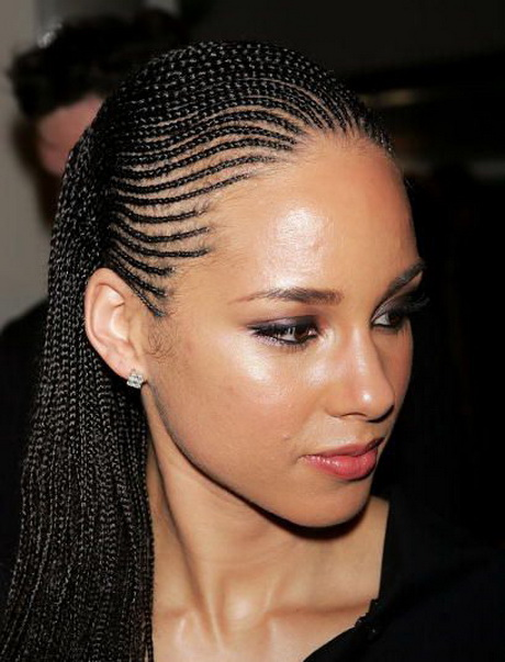Alicia Keys Braided Hairstyles