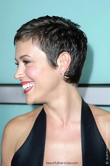 Alyssa Milano Pixie Haircut