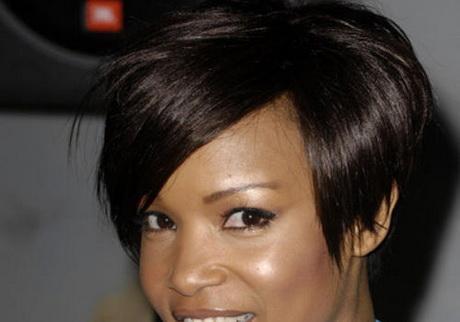 Asymmetrical black hairstyles