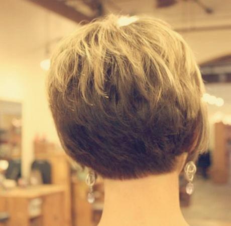 Back view short haircuts