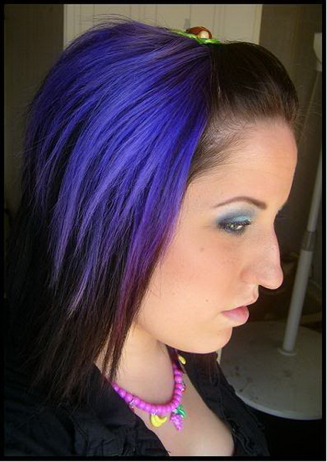 black and purple hair styles black and purple hairstyles 1538
