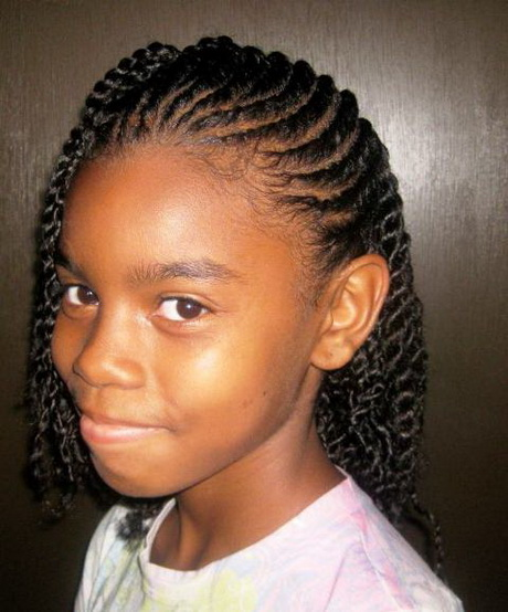 French braids for black kids