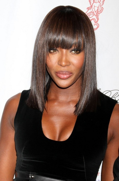 Naomi Campbell Hair Bangs Black hairstyles for o...