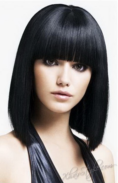 black hair styles with bangs bangs black hairstyle 7388