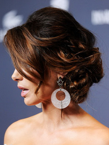 updo hairstyles formal easy updos celebrity hairstyle side hair prom kate bangs celebrities pretty beckinsale evening styles queen medium bridal