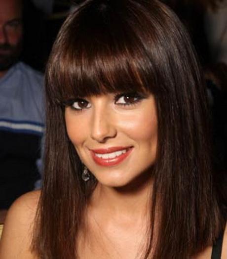 Cheryl Cole Wedding Hairstyle: Full Fringe Hairstyles